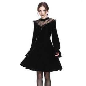 DARK IN LOVE Victorian Velvet Dress