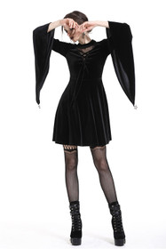 Detailbild zu DARK IN LOVE Black Sunday Samtkleid