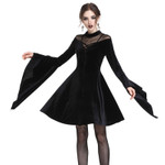 DARK IN LOVE Black Sunday Samtkleid 001