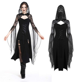 DARK IN LOVE Black Wicca Dress