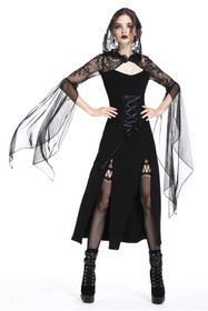 Detail image to DARK IN LOVE Black Wicca Dress