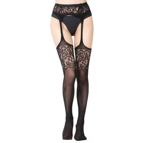 Suspender Tights Lace Top