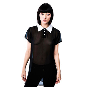 KILLSTAR Wednesday Chiffon Top