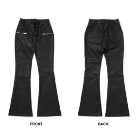 Detail image to KILLSTAR Hell-O Bootcut Leather Pants
