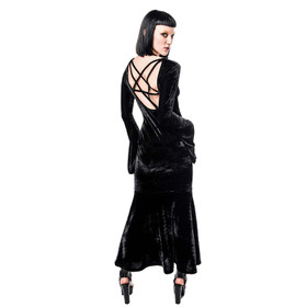 Detail image to KILLSTAR Mme. Bathory Velvet Maxi Dress