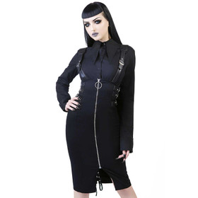 KILLSTAR Tempest Pencil Skirt Black