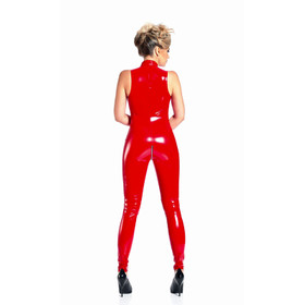 Detail image to PATRICE CATANZARO Angelica PVC Catsuit Red
