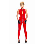 PATRICE CATANZARO Angelica PVC Catsuit Red 001
