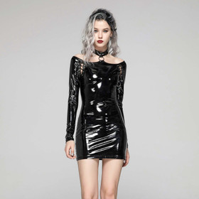PUNK RAVE O-Ring Choker PVC Dress