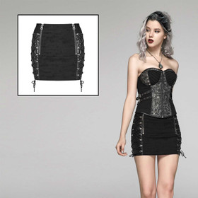 PUNK RAVE Bind Me Mini Skirt