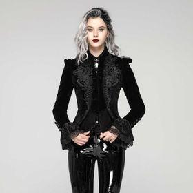 PUNK RAVE Diana Gothic Velvet Jacke