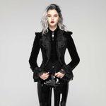 PUNK RAVE Diana Gothic Velvet Jacke 001