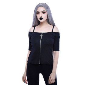 KILLSTAR Don't Cross Me Bardot Top