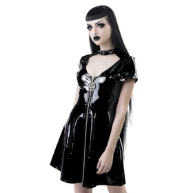 KILLSTAR Sin City Skater PVC Dress