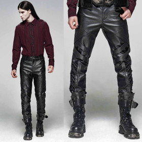 PUNK RAVE Revenant Pants Lederhose