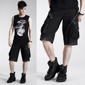 PUNK RAVE Dark Storm Shorts