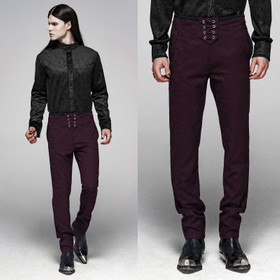 PUNK RAVE Gothic Dandy Pants Wine