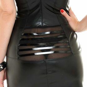 Detail image to PATRICE CATANZARO Essia Barred Dress
