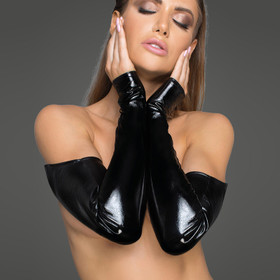 NOIR HANDMADE Glossy Leather Gauntlets