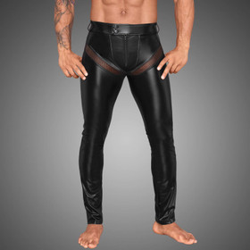 NOIR HANDMADE Powerwetlook Pants w/ Fishnet Cod-Piece
