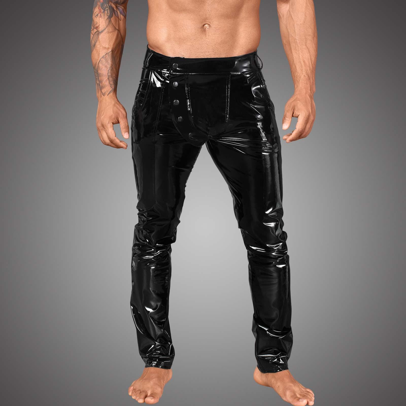 NOIR HANDMADE PVC Pants w/ Snap Side-Fly