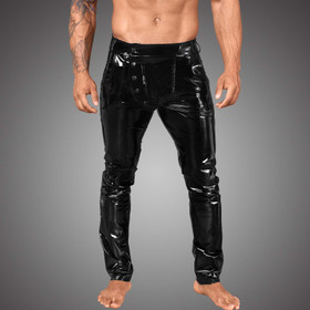 NOIR HANDMADE PVC Pants w/ Snap Side-Fly