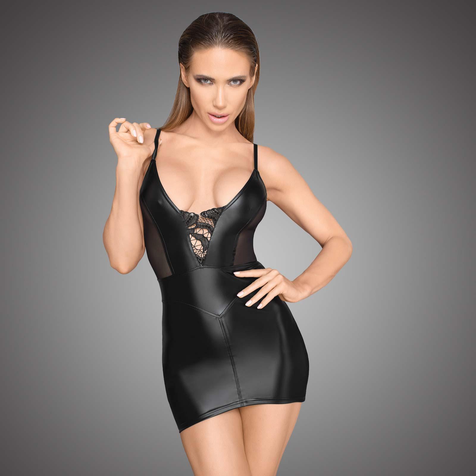 NOIR HANDMADE Wetlook Mini Dress