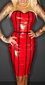 Detail image to NOIR HANDMADE Taboo Shift Dress Red