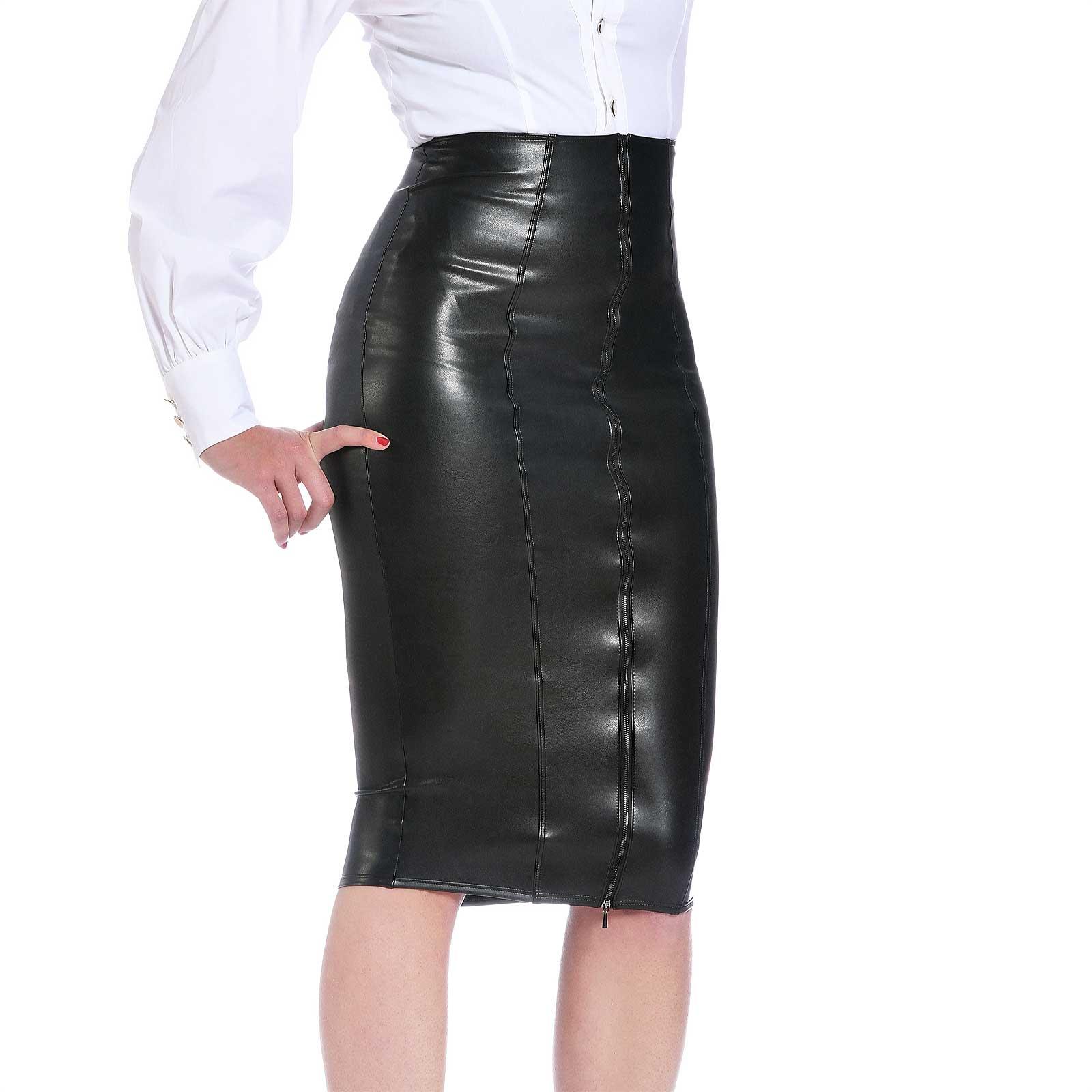 PATRICE CATANZARO Ornella Leather Pencil Skirt
