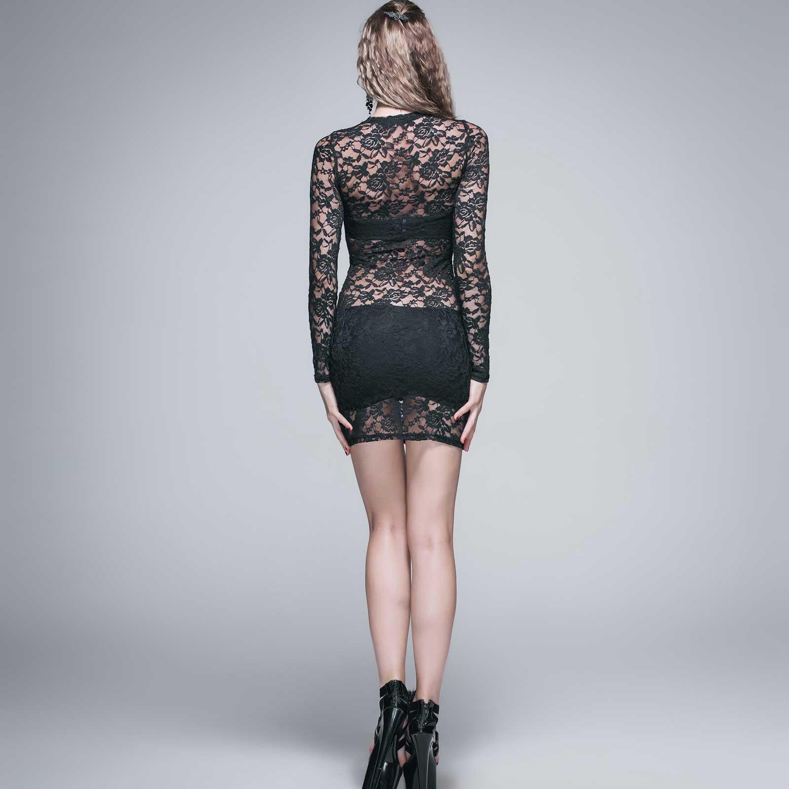 devil fashion spitzen-kleid