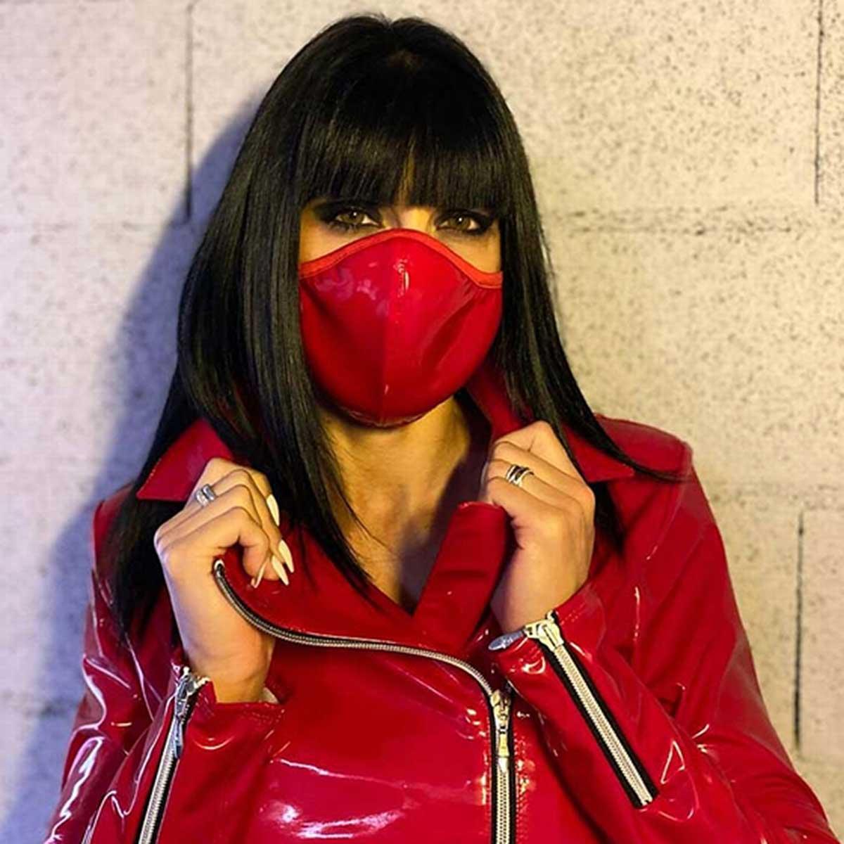 PATRICE CATANZARO Red Vinyl Mask
