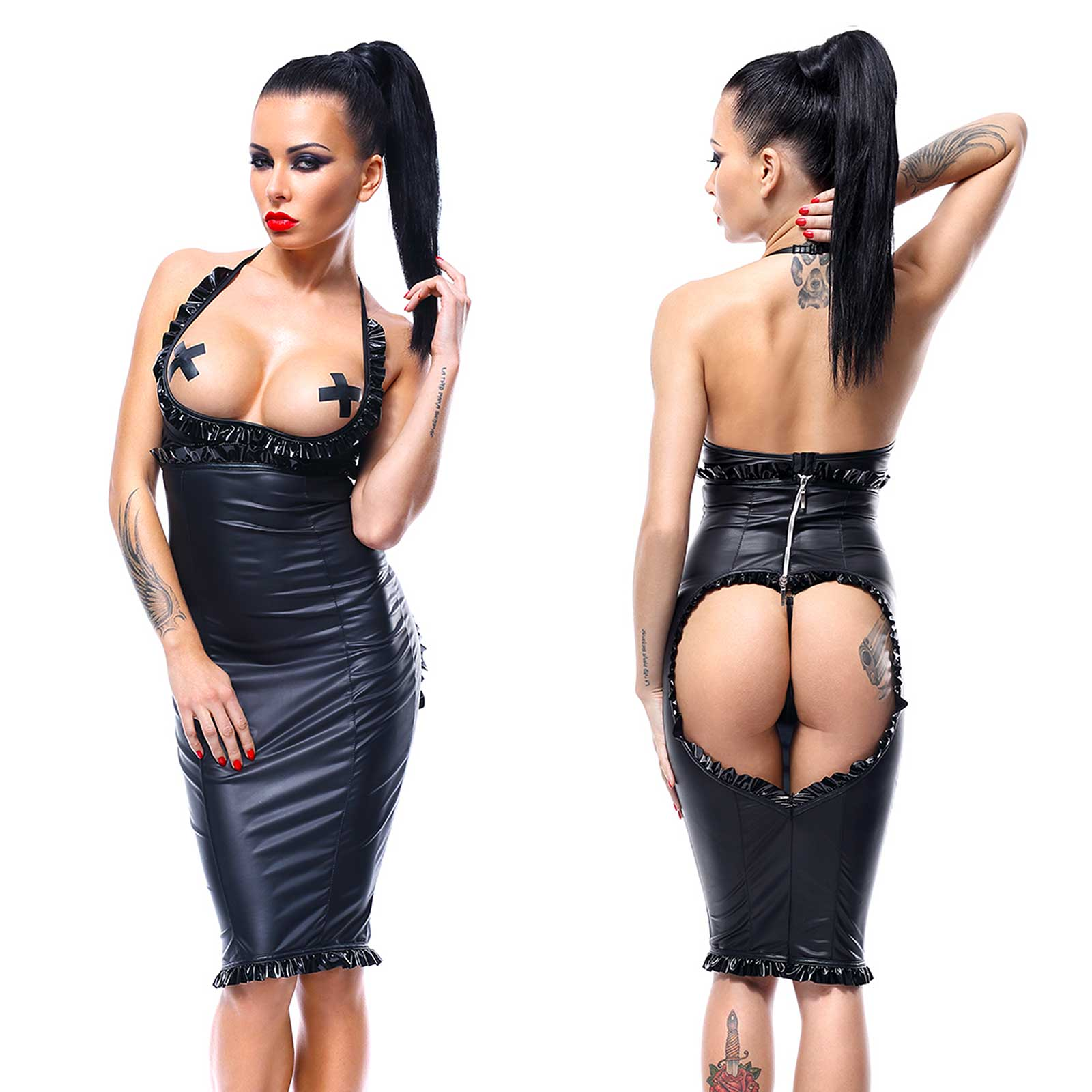 DEMONIQ Laureen Topless Spanking Dress Set 3-pcs.