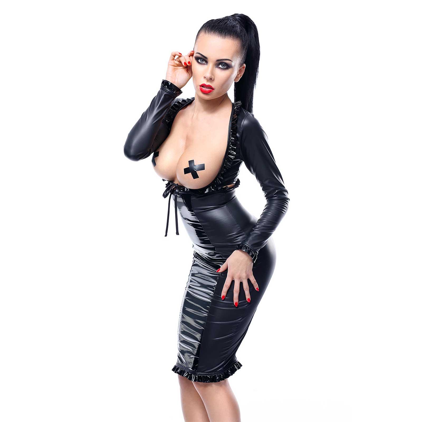 DEMONIQ High Waisted Pencil Dress Set Erna 2-pcs.