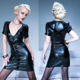 PATRICE CATANZARO Nevada Wetlook Mini Dress