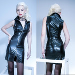 PATRICE CATANZARO Noelia Wetlook Mini Dress 001