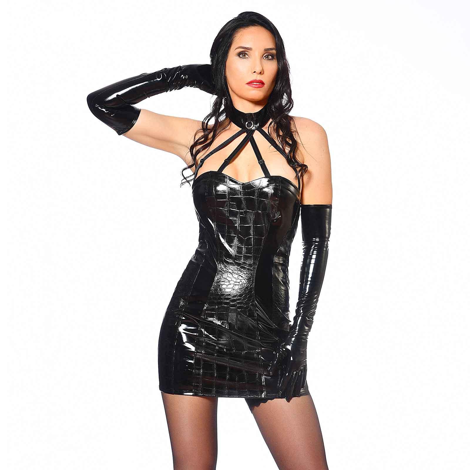 PATRICE CATANZARO Vika Robe Vinyl Dress