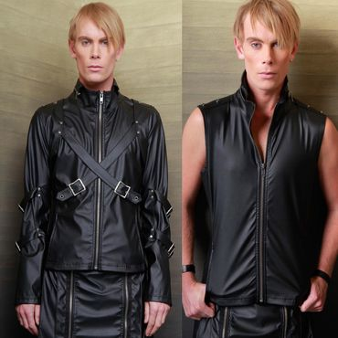 LIP SERVICE Transformer Zip Jacket Vegi Leder