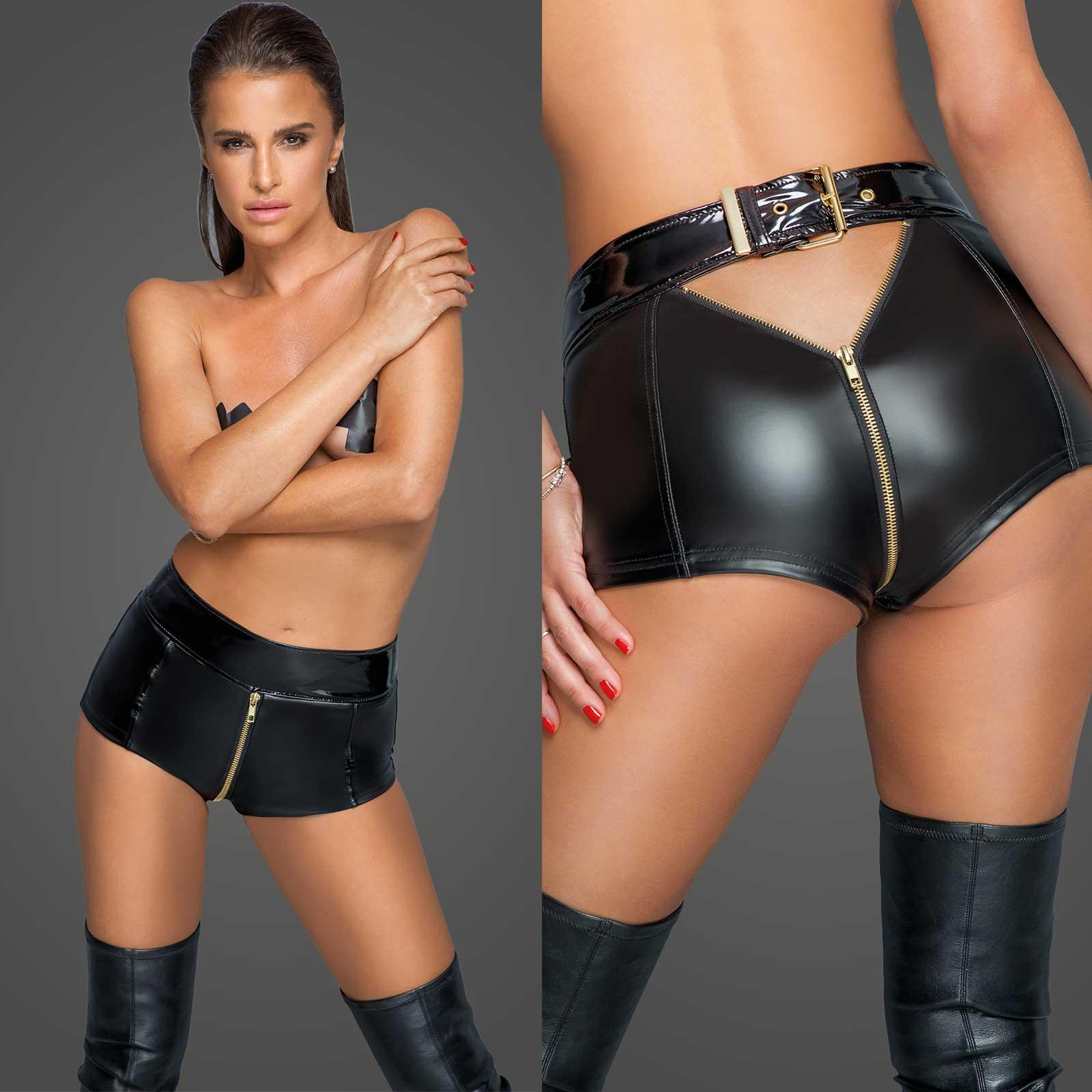 NOIR HANDMADE Golden Zip Shorts