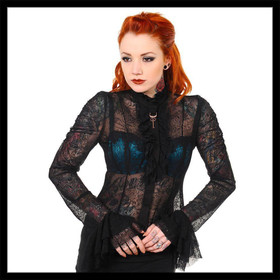 BANNED Lace Shirt Black