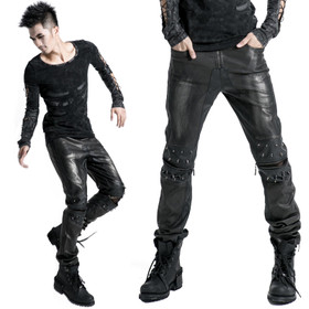 PUNK RAVE Black Metal Men Pants