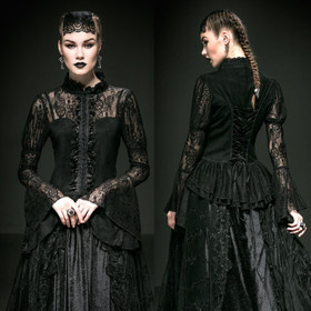 Detail image to PUNK RAVE Duchess Of Dusk Gothic Top