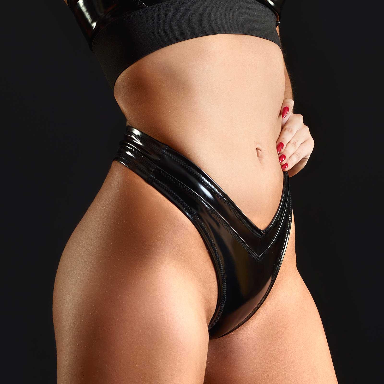 PATRICE CATANZARO Jade PVC String Panty Black