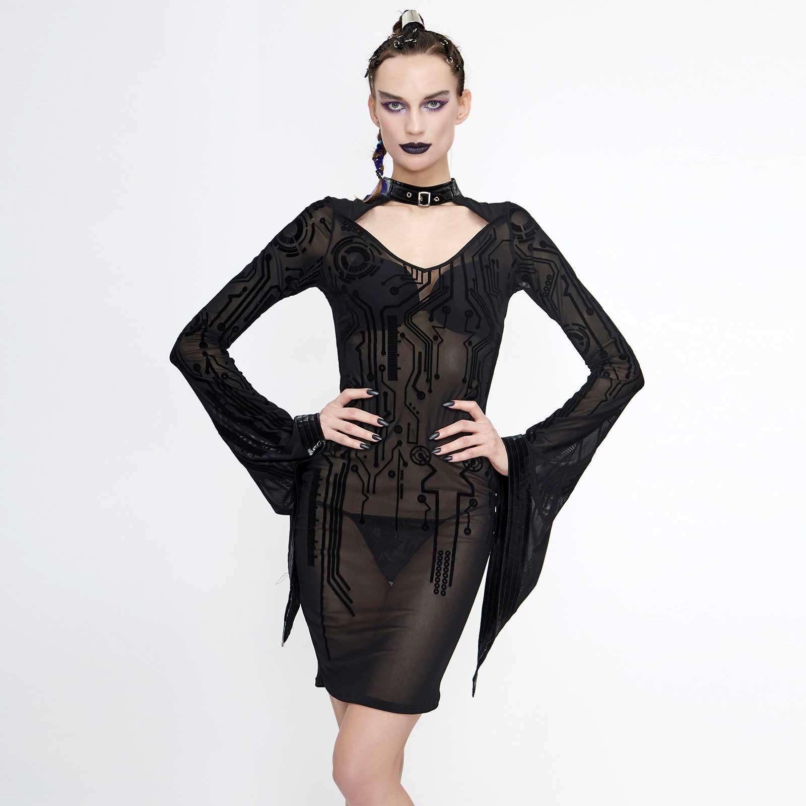DEVIL FASHION Cyberline Mesh Dress