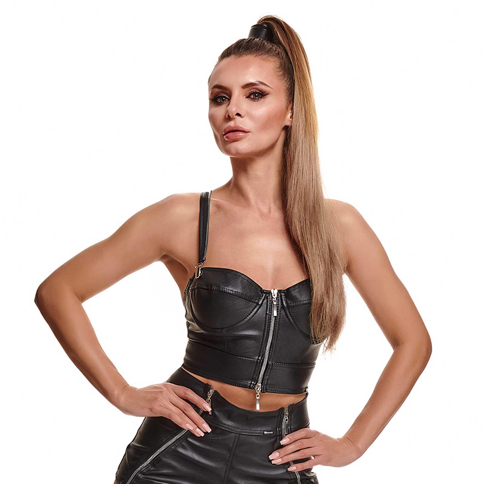 DEMONIQ Marta Leather Bustier