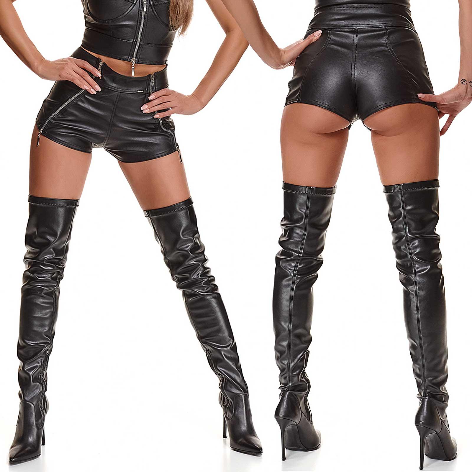 Monica Hot Zipper Shorts