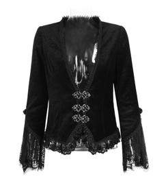 Detailbild zu PUNK RAVE Black Velvet Gothic Jacket