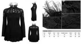 Detailbild zu PUNK RAVE Chiffon Neck Gothic Tunika