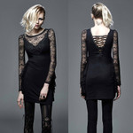 PUNK RAVE Gothic Mourning Dress Spitzenkleid 001