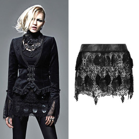 Detail image to PUNKRAVE Gothic Palace Lace Mini Skirt
