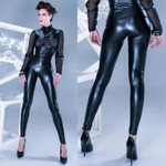 PATRICE CATANZARO Vera Wetlook Leggings 001
